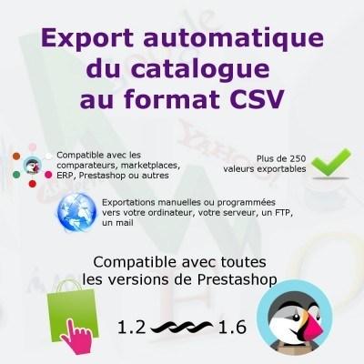 Export du catalogue au format CSV