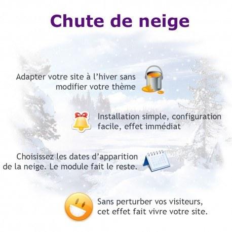 Module PrestaShop de Chute de neige