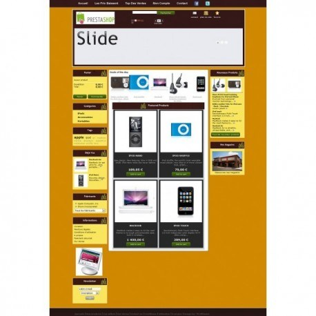 Template Prestashop 1.4 - Brownie