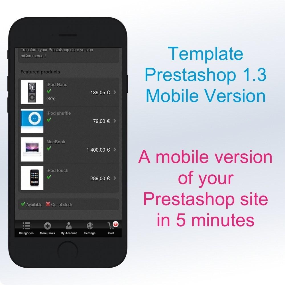 prestashop 1 3 black template mobile friendly. Black Bedroom Furniture Sets. Home Design Ideas