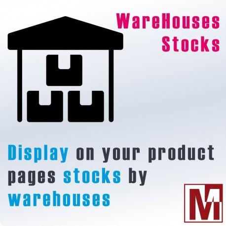 Display stocks by warehouse