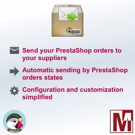 Send your PrestaShop orders to your suppliers