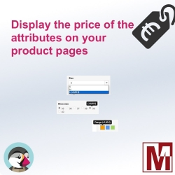Display attributes prices on your products