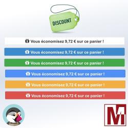 Affichez les économies réalisées dans le panier PrestaShop