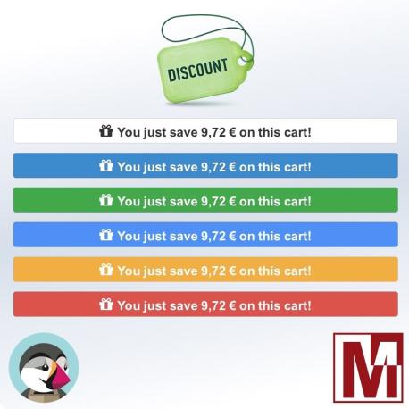 Display the savings in the PrestaShop shopping cart