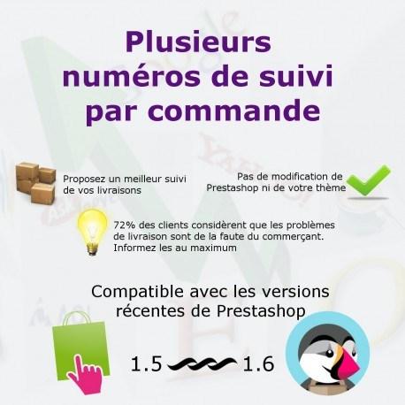 Associer plusieurs numéros de suivi par commandes pour PrestaShop