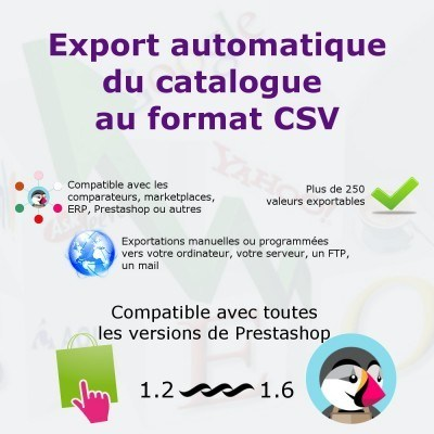 Export du catalogue au format CSV pour PrestaShop