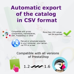 PrestaShop CSV export for your catalog