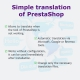 Simplified translation of modules and frontoffice for Prestashop