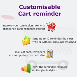 Cart reminder on PrestaShop