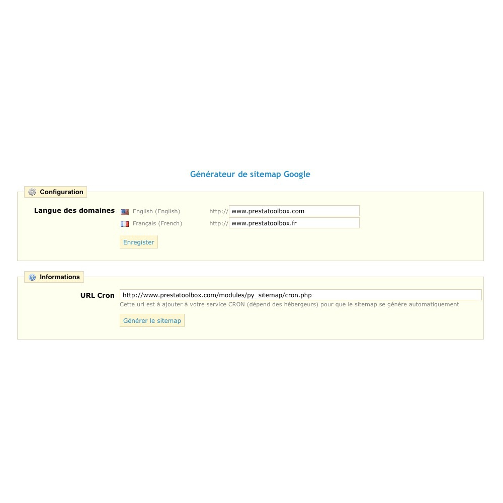 administrative tools one sitemap by domain and language de bout